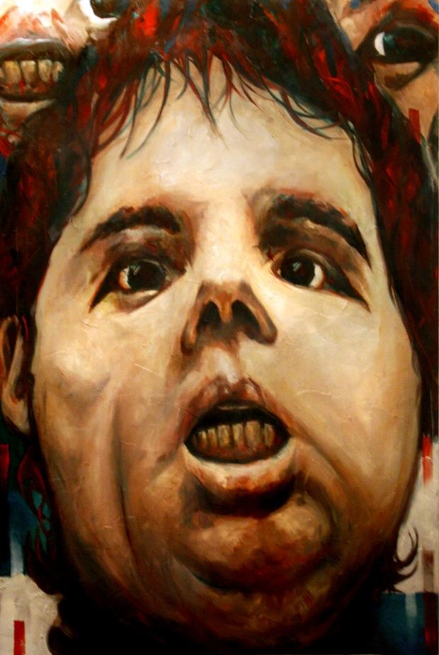 Dario Maglionico, Oscar, 2011, olio su tela, 120x80cm